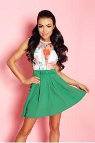 Sukienka ALICE - kolorowa z odkrytymi plecami